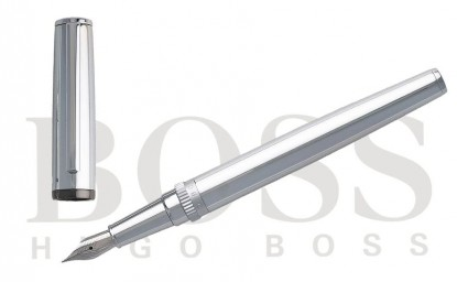 "Pluma estilográfica Hugo Boss ""Gear Metal Chrome"""