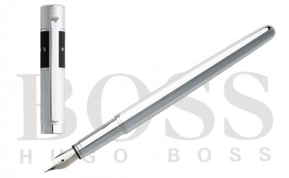 "Pluma estilográfica Hugo Boss ""Ribbon Chrome"""