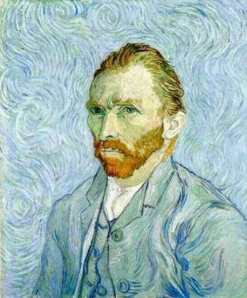 Van Gogh portrait blue
